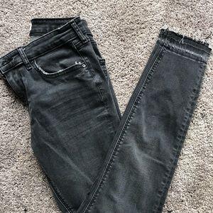 Zara dark grey wash high waisted denim jeans